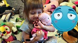 Обзор!Лиза показывает мягкие игрушки свинка пеппа,лунтик,и другое...