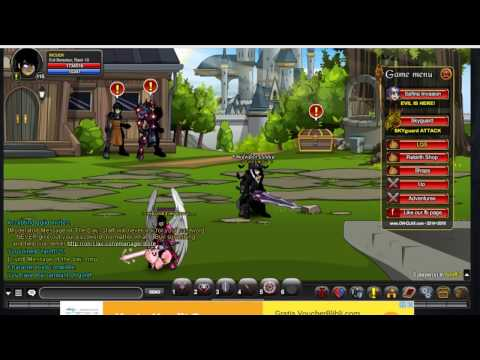 Onclax AQW Private Server - How to get fast xp and coins