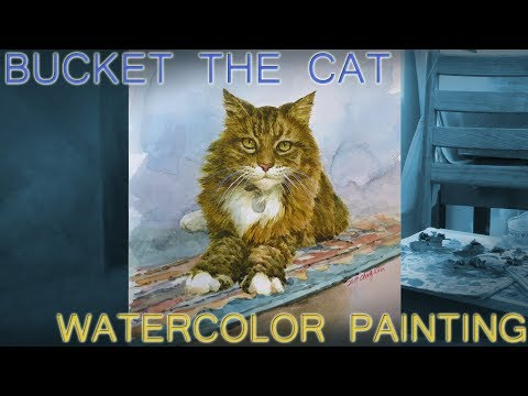 COOLEST Cat Painting - Bucket the Maine Coon Cat