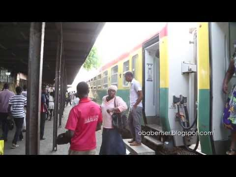 Train ride from Tema to Accra. Ghana