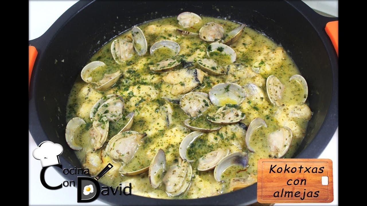 Cocinar Cocochas De Merluza   Kokotxas Con Almejas Cocina Con David Youtube