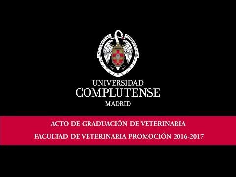 Acto de Graduación Facultad de Veterinaria 2017. UCM