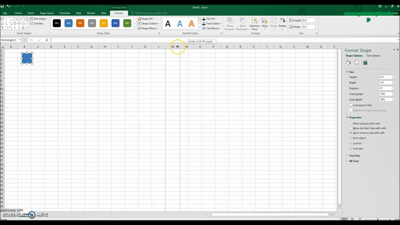 how to create graph paper in excel