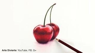 Cómo dibujar cerezas con lápices de colores - Naturaleza muerta - Fruta