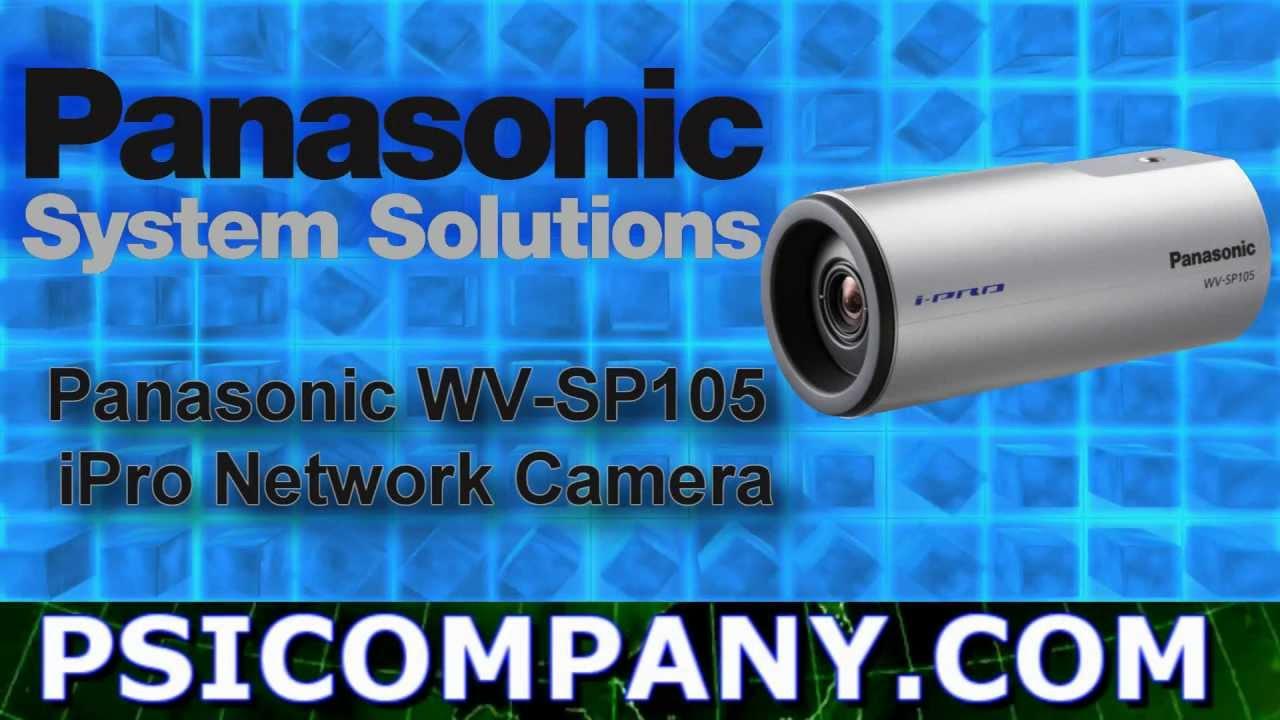 Panasonic WV-SP105 Network Camera Update
