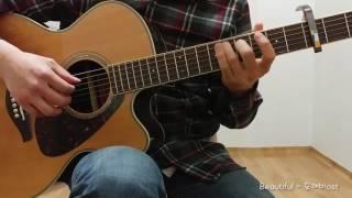 도깨비ost - Beautiful 크러쉬(CRUSH) Guitar Cover