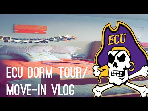 EAST CAROLINA UNIVERSITY (ECU) DORM TOUR! & VLOG