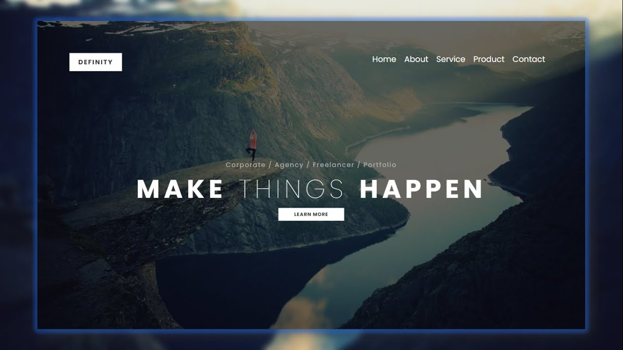 Responsive Landing Page Using HTML and CSS