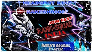 🔴Live FREE FIRE SQUADS RANKED LIVE #INDIA! GAMINGWITHRAKESH !! GLOBAL #29 POSITION !!