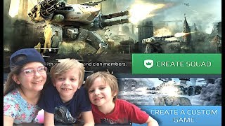 War Robots: Custom Game Mode Battles with My Kids!