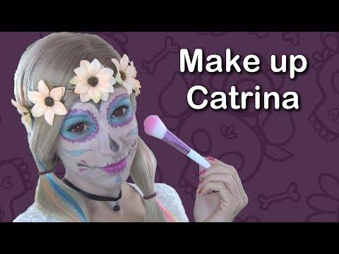 ASMR Español . Maquillaje de la Catrina . Make up . Susurros super relajantes . Susurros para dormir