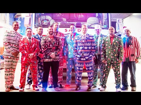 Download Youtube: Firefighters Dress In Ugly Christmas Suits For Guys' Night Out