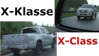 شاحنة بيك أب مرسيدس بنز إكس كلاس تُرصد أثناء اختبارها [صور وفيديو]
