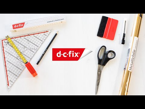 d-c-fix® Chest of drawers with golden accents | DIY craft video