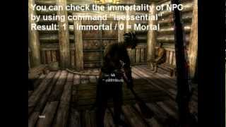 SKYRIM - How to Kill Immortal (Essential) NPCs