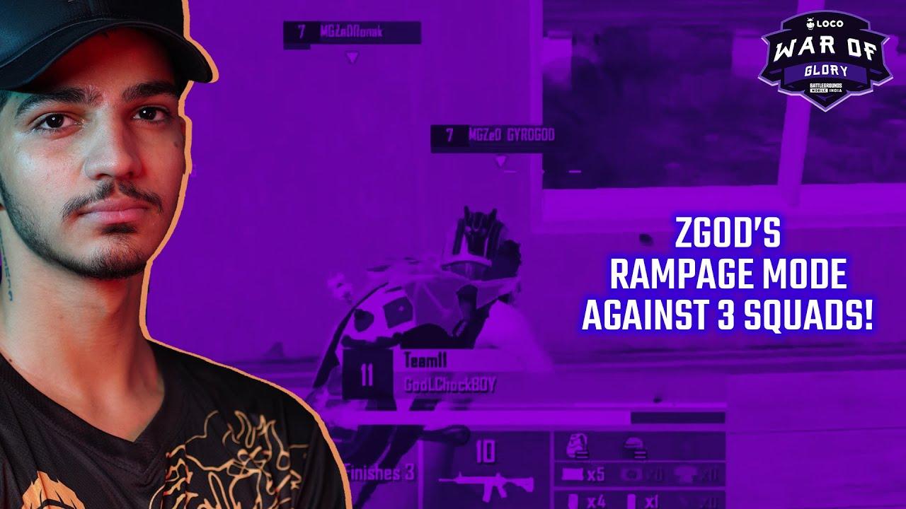 GodL ZGOD's Rampage MODE Against 3 SQUADS   #VE BGMI Tourney Highlights