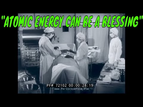 "1950s NUCLEAR MEDICINE FILM  ""ATOMIC ENERGY CAN BE A BLESSING""  with FRED MACMURRAY 172102"