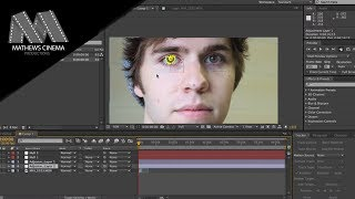 Changing Eye Color in After Effects CS6- Motion Tracking to the Face [TUTORIAL]