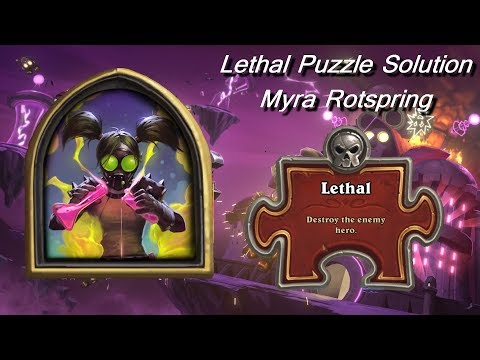 Hearthstone Lethal Puzzle | Myra Rotspring Solution