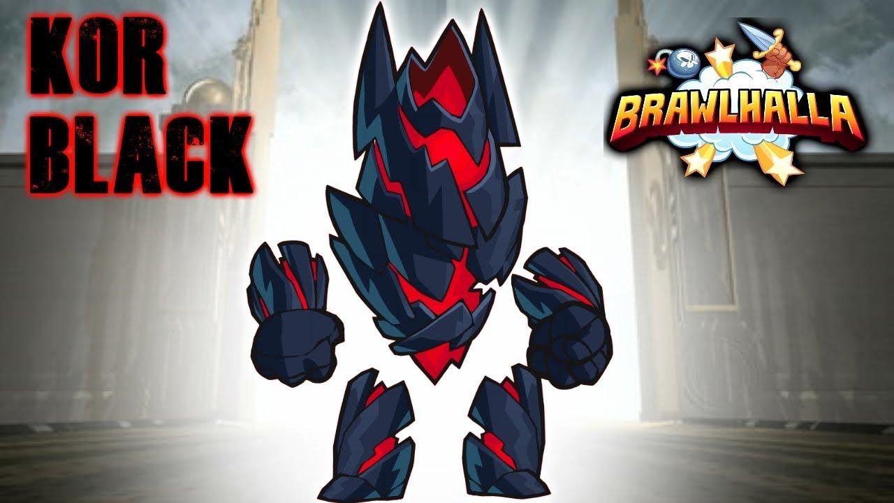 BLACK KOR (My 32nd Black Color Legend) • Brawlhalla 1v1