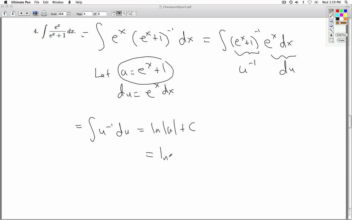 Applied Calculus Checkpoint Quiz 03 Part 2 of 2