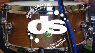 Bog Oak 14x6,5 Mother Nature Snare drum by DS Drum (Sound Examples)