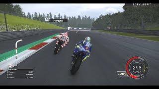 MotoGP 17 Gameplay, Spielberg Austrian GP - Valentino Rossi. Last lap battle?