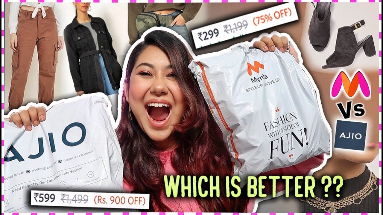 MYNTRA Vs AJIO ⚡️ Online Shopping Battle   ThatQuirkyMiss