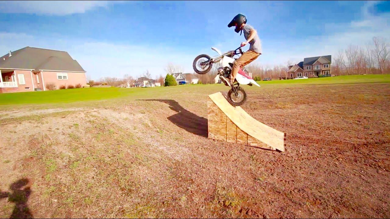 Dirt Bike Ramp >> Insane Pit Bike Ramp Fail