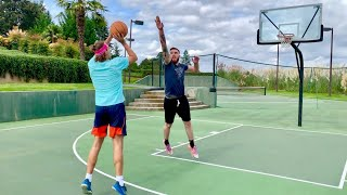 "Trash Talking 1v1 vs 6'10"" Ex D1 Hooper! Loser Jumps In Pool With Clothes On!"
