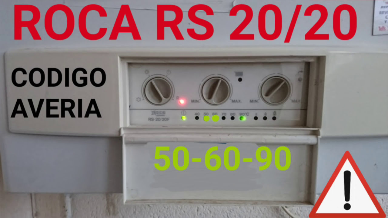 roca rs 20 codigos averias 40 50 60 70 80 90 youtube