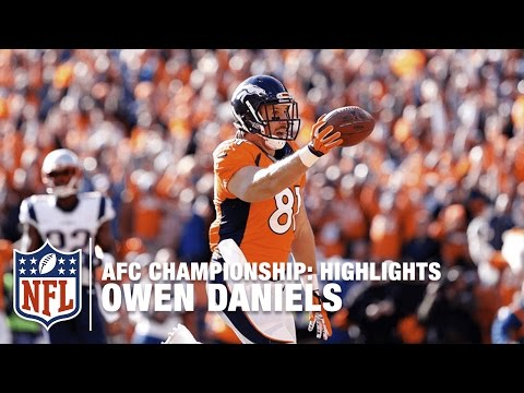 Owen Daniels Highlights (AFC Championship) | Patriots vs. Broncos | NFL