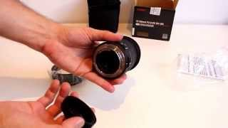 Unboxing Sigma 17-50mm F2.8 EX DC OS HSM