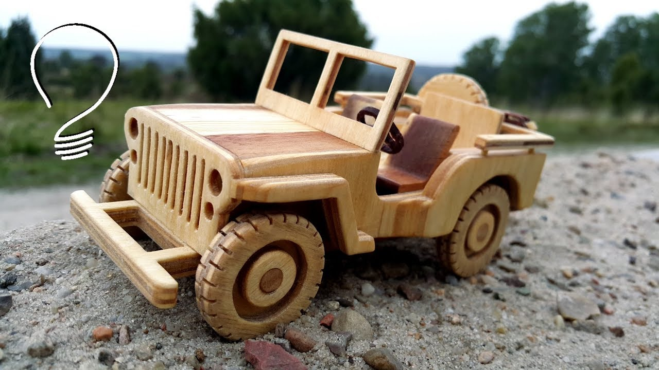 jeep willys wooden toy car