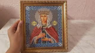 Обзор на готовую икону Святая мученица Людмила