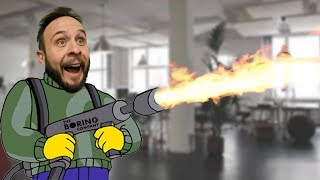 WE BOUGHT A FLAMETHROWER?! - Dude Soup Podcast #159
