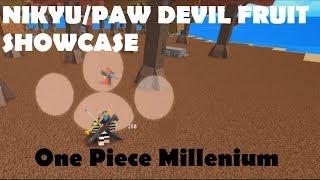ONE PIECE MILLENIUM   NIKYU/PAW Devil Fruit Showcase   ROBLOX ONE PIECE GAME  Bapeboi