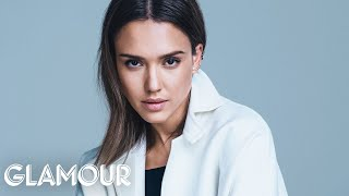 Jessica Alba Plays 'Would You Rather' at Glamour Cover Shoot – Cover Stars
