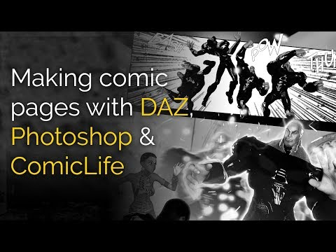 Making comic pages with DAZ Studio, Photoshop & ComicLife