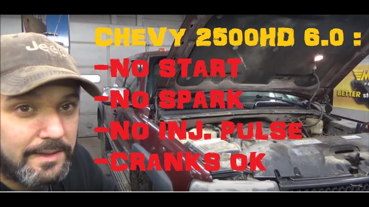 2001 S10 Wiring Diagram Chevy 2500hd No Start No Spark No Fuel Cranks Ok Youtube