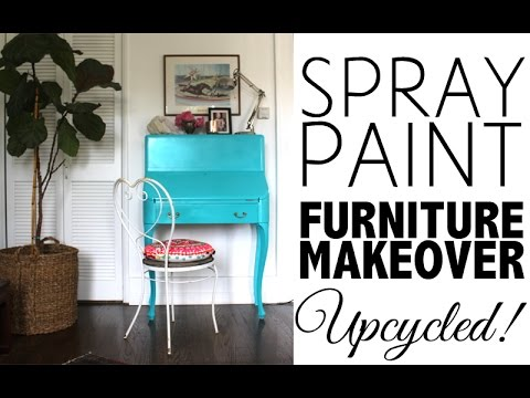 Diy spray paint furniture makeover home decor youtube Spray paint for wood furniture