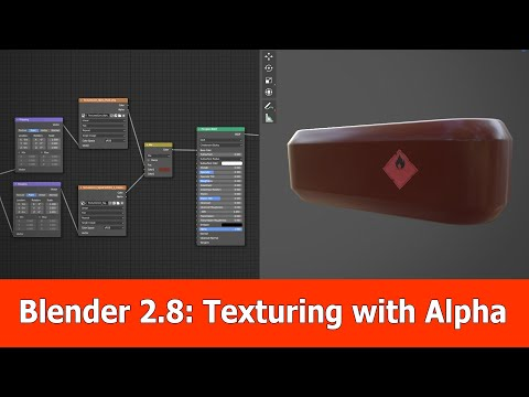 Blender 2.8 Texturing With Alpha Tutorial