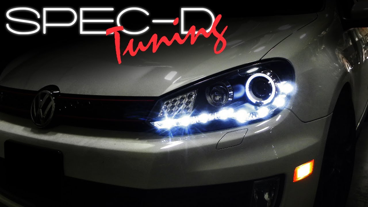 specdtuning installation video 2009 volkswagen golf r8 led specdtuning installation video 2009 volkswagen golf r8 led projector headlights