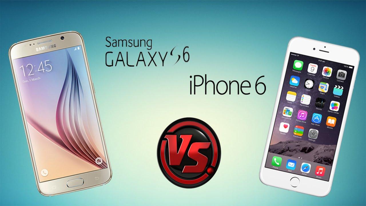 4d0a94265d8 Samsung Galaxy S6 vs iPhone 6   Comparativa en Español - YouTube