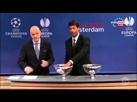 UEFA Champions League 2013 Semi Final Draw 12 April 2013