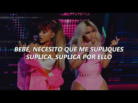 Nicki Minaj - Get On Your Knees (Lyrics/Letra En Español) ft. Ariana Grande