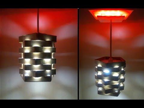 Make a DIY Cardboard Pendant Light | DIY ROOM DECOR | Home Made Lamp Shade | DIY Lamp