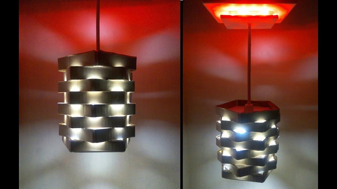 Make A Diy Cardboard Pendant Light Diy Room Decor Home