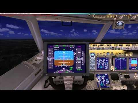Microsoft Flight Simulator X обучение GPS навигатор, подход, посадка по ИЛС