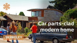 Upscale Bay Area home made from salvaged car roofs & windows